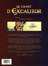Verso de Le chant d'Excalibur -1b- Le Réveil de Merlin