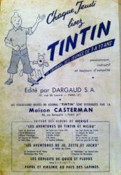 Verso de (Recueil) Tintin (Album du journal - Édition française) -36- Tome 36