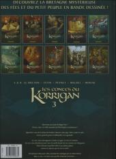 Verso de Les contes du Korrigan -3b2012- Livre troisième : les Fleurs d'écume