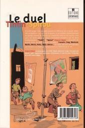 Verso de (DOC) Études et essais divers -'- Le duel Tintin-Spirou
