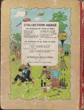 Verso de Tintin (Historique) -7B12- L'île noire