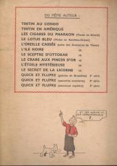 Verso de Tintin (Historique) -6A23BIS- l'oreille cassée