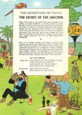 Verso de Tintin (The Adventures of) -11- The Secret of the Unicorn