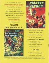Verso de La planète des singes (LUG) -1- La Planète des Singes 1
