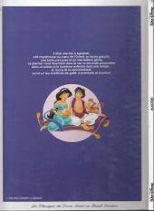 Verso de Les classiques du dessin animé en bande dessinée -10Pub- Aladdin