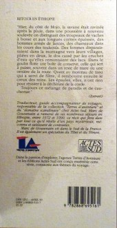 Verso de (AUT) Pratt, Hugo - Retour en Éthiopie