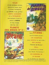 Verso de La planète des singes (LUG) -4- La Planète des Singes 4