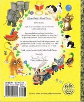 Verso de A little golden book - Mickey mouse flies the christmas mail