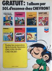 Verso de Gaston (Hors-série) -Pub- Gaston en action !