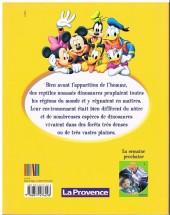 Verso de Le monde merveilleux de la connaissance (Disney-journal La Provence) -1- Les dinosaures
