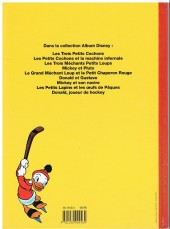 Verso de Album Disney - Donald joueur de hockey