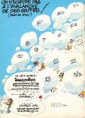 Verso de Gaston (Hors-série) -14Total- La Saga des Gaffes