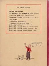 Verso de Tintin (Historique) -3A14bis- Tintin en amérique