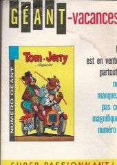 Verso de Tom et Jerry (Puis Tom & Jerry) (2e Série - Sage) -101- Milliardaire d'un jour !