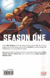 Verso de Season One (100% Marvel) -5- Daredevil