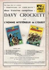 Verso de Davy Crockett (S.P.E) -14- Le secret du vieux pionnier