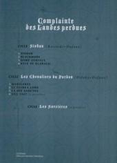Verso de Complainte des Landes perdues -3c- Dame Gerfaut