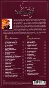 Verso de BD Chanson -15- Serge Gainsbourg
