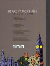 Verso de Blake et Mortimer - La collection (Hachette) -4- Le Mystère de la grande pyramide - Tome I - Le Papyrus de Manethon