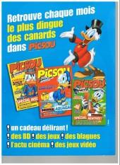 Verso de Picsou Magazine -Rec64- (2e série) Recueil n°64 (n°468-471-470)