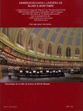 Verso de Blake et Mortimer (Divers) -16a- La Bibliothèque virtuelle de Blake & Mortimer - 2ème édition