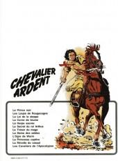 Verso de Chevalier Ardent -11a1980- La révolte du vassal