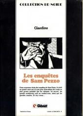 Verso de Sam Pezzo (Les enquêtes de) -3- Tome 3