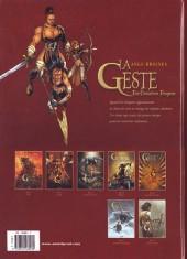 Verso de La geste des Chevaliers Dragons -4b- Brisken