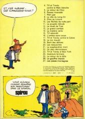 Verso de Tif et Tondu -11b80- La poupée ridicule