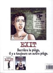 Verso de Exit (Werber/Mounier) -3- Jusqu'au dernier souffle