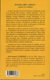 Verso de (AUT) Hergé -139- Baudelaire / Hergé : penser la création