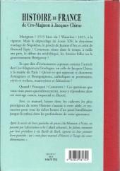 Verso de (AUT) Cornillon - Histoire de France de Cro-Magnon à Jacques Chirac