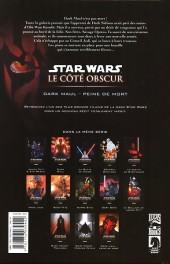Verso de Star Wars - Le côté obscur -13- Dark Maul - Peine de mort (an -19)