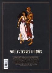 Verso de Sur les terres d'Horus -INT1a- L'Intégrale - Tomes 1 à 4