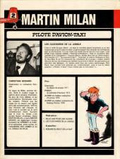 Verso de Martin Milan (2e Série) -2- Les clochards de la jungle