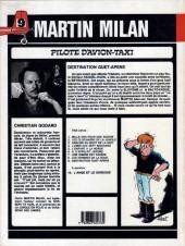 Verso de Martin Milan (2e Série) -9- Destination guet-apens