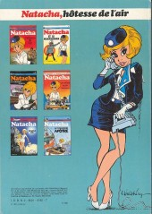 Verso de Natacha -1a1981- Hôtesse de l'air
