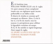 Verso de Illustré (Le Petit) (La Sirène / Soleil Productions / Elcy) - Le rugby illustré de A à Z