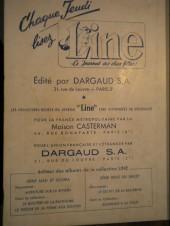 Verso de (Recueil) Line (reliures françaises) -29- Line album du journal