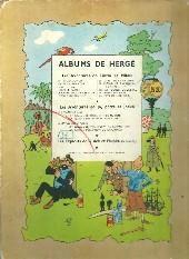 Verso de Tintin (Historique) -14B06- Le temple du Soleil