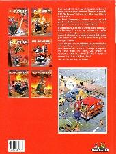 Verso de Les pompiers -3a2007- Le feu de l'amour
