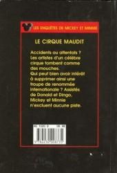 Verso de Les enquêtes de Mickey et Minnie -9- Le cirque maudit