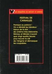 Verso de Les enquêtes de Mickey et Minnie -6- Festival de canailles