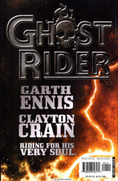 Verso de Ghost Rider Vol 5 : Road to damnation (Marvel - 2005) -1- The road to damnation part 1