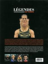 Verso de L'Équipe de rêve - Légendes -4- Légendes du Tennis
