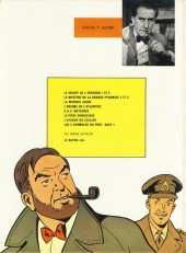 Verso de Blake et Mortimer (Historique) -1b82- Le Secret de l'Espadon - Tome I - La Poursuite fantastique