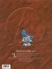 Verso de Le triangle secret -1a04- Le testament du fou