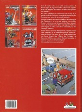 Verso de Les pompiers -3a2006- Le feu de l'amour