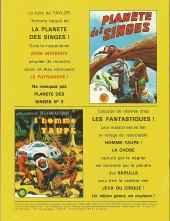 Verso de La planète des singes (LUG) -2- La Planète Des Singes 2