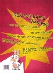 Verso de Lapins crétins (The) -3- Renversant !